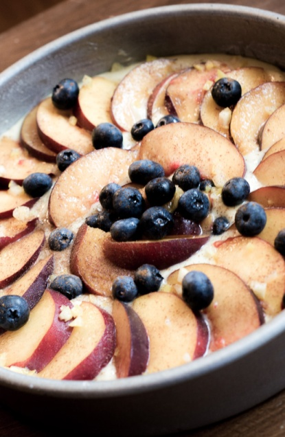 Berry Peach Cobbler Breakfast Cake