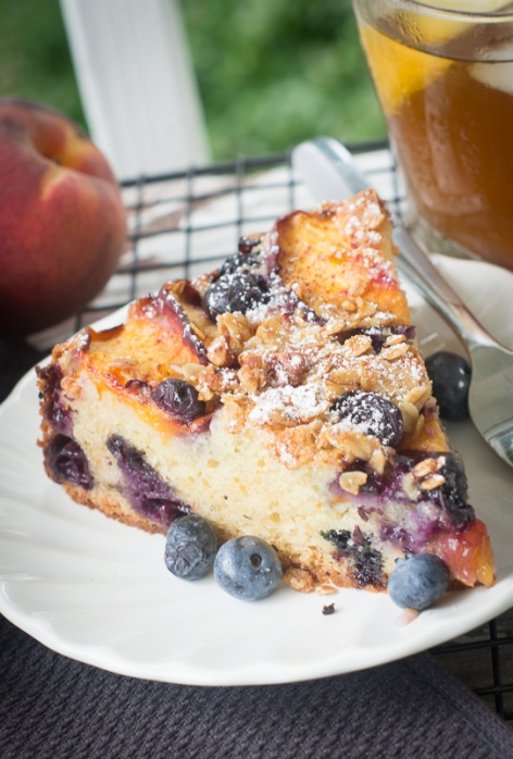 Berry Peach Cobbler Breakfast Cake
