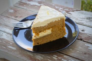 pumpkin cake slice