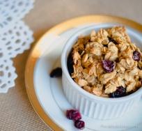 cranberry oat muffin in ramekin