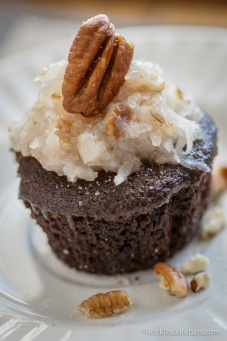 German Chocolate Cupcakes (Vegan)-7