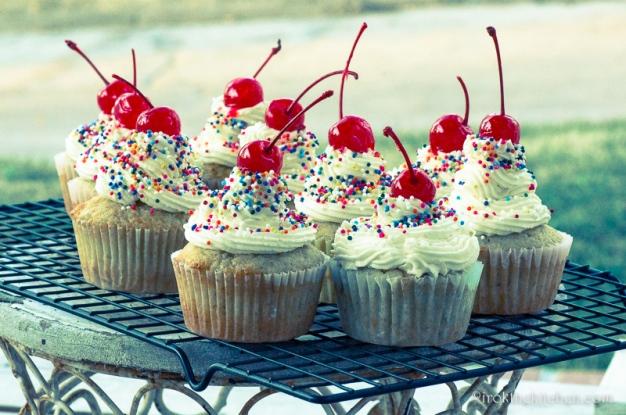 Banana Split Cupcakes-26