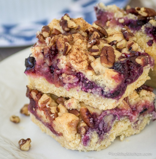 Berry Rhubarb Crumble Bars-9