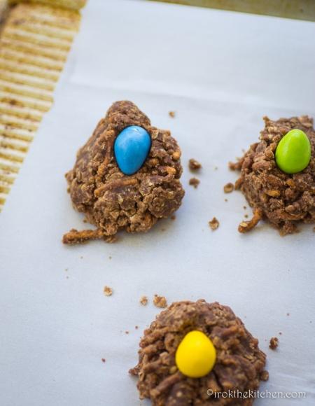 No Bake Birds Nest Cookies-3