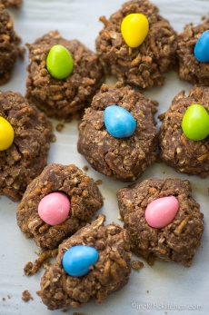 No Bake Birds Nest Cookies-4