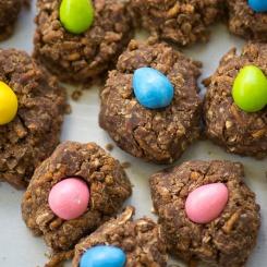 No Bake Birds Nest Cookies-4