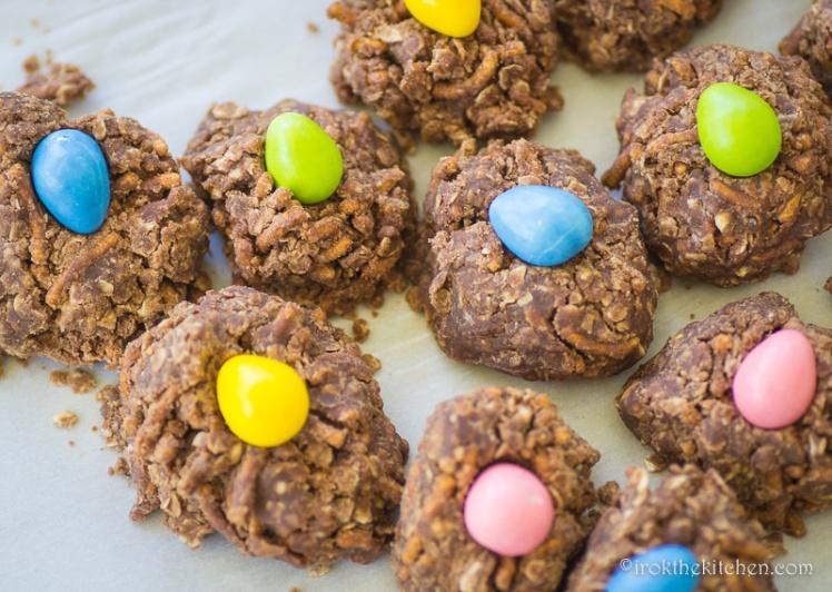 No Bake Birds Nest Cookies-5