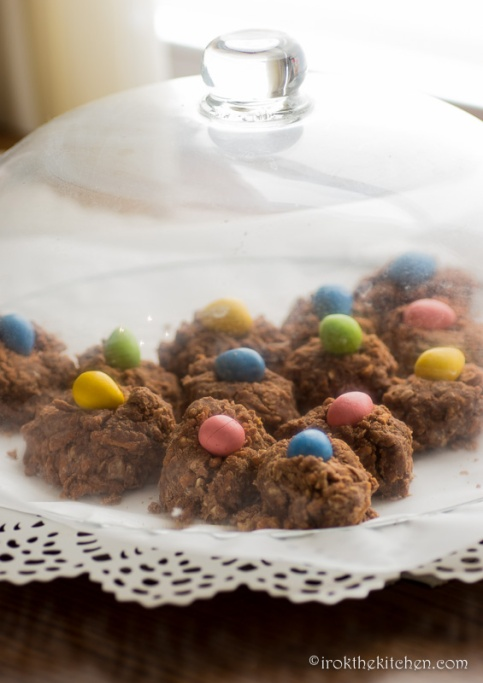 No Bake Birds Nest Cookies-6